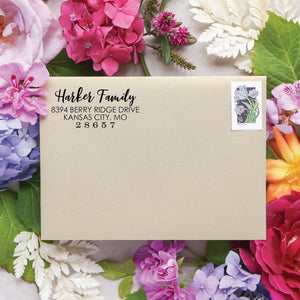 Beautiful Return Address Stamp