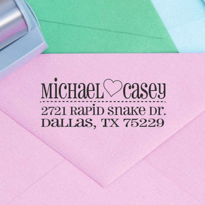 Heart Return Address Stamp