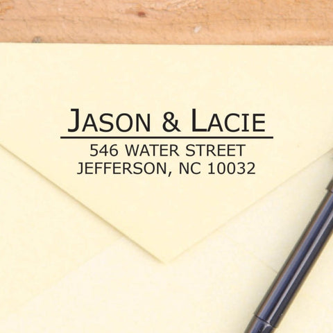 Custom Underlined Return Address Stamp