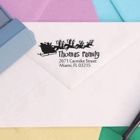 Santa Return Address Stamp