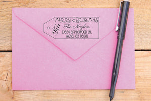 Christmas Tag Return Address Stamp