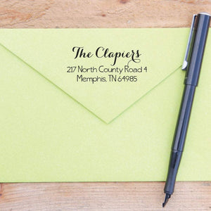 Fancy Script Return Address Stamp