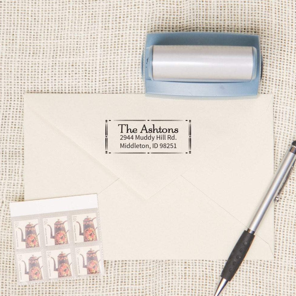 Decorative Border Return Address Stamp