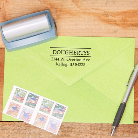 Organized Return Address Stamp