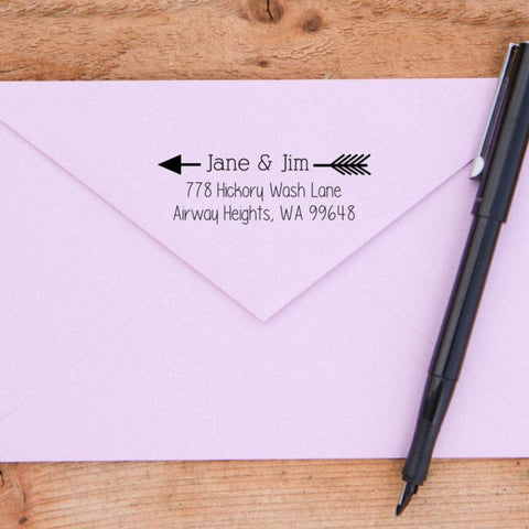 Arrow Return Address Stamp