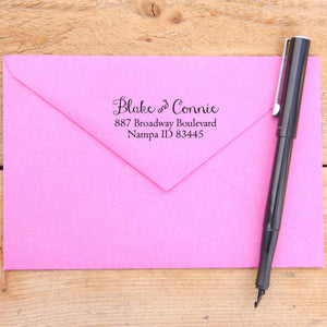 Curly Script Return Address Stamp