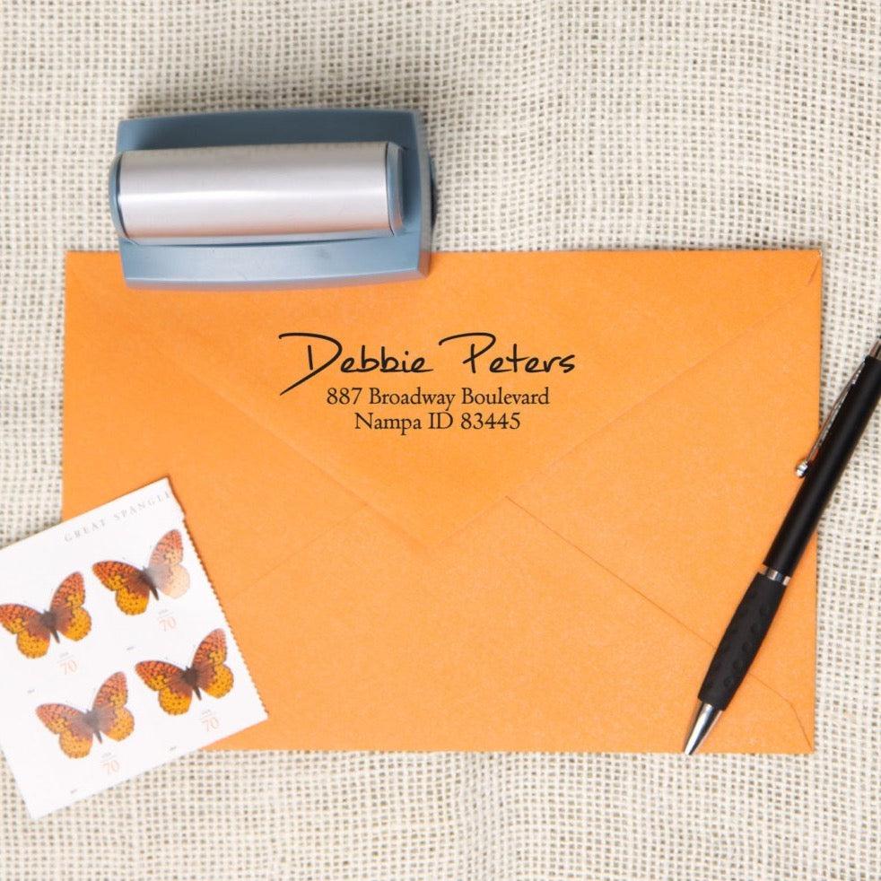 Dashing Return Address Stamp