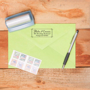 Rectangle Return Address Stamp