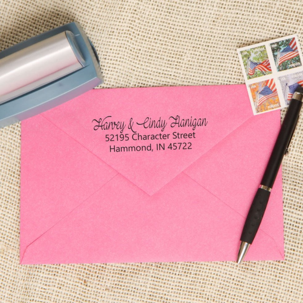 Native Script Return Address Stamp
