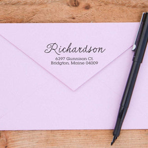 Handwritten Return Address Stamp