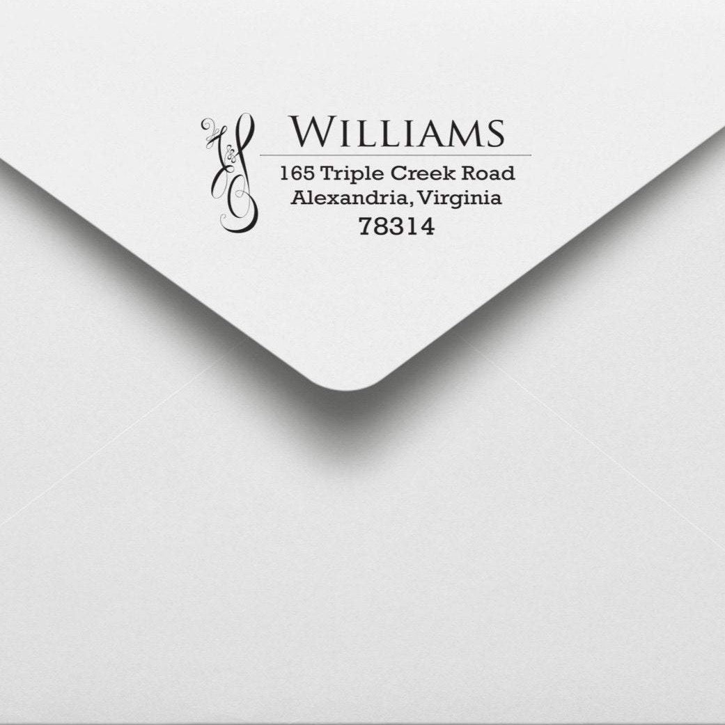 Artistic Return Address Stamp