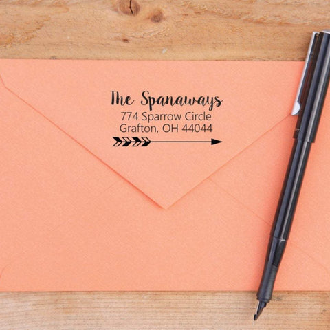 Fun Arrow Return Address Stamp