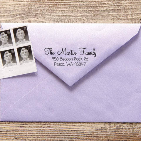 Pretty Script Return Address Stamp