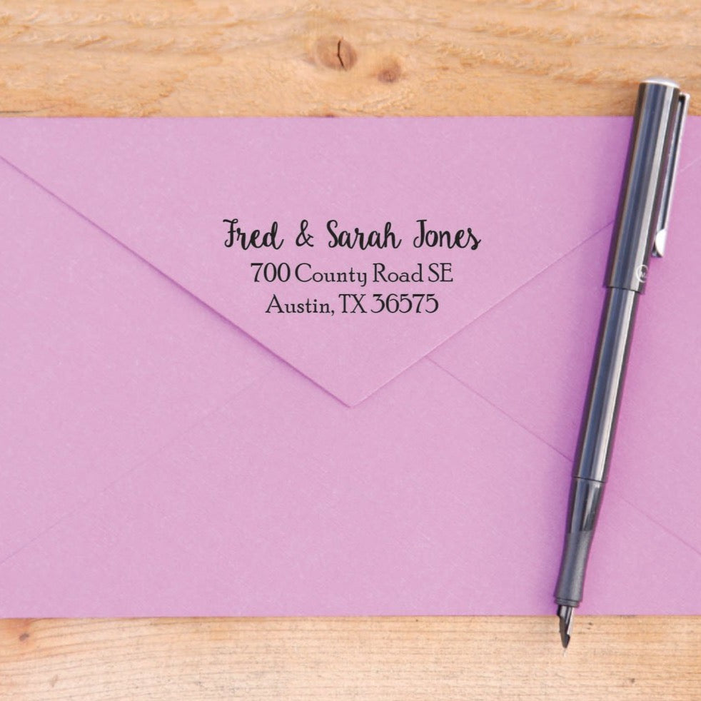 Modest Script Return Address Stamp