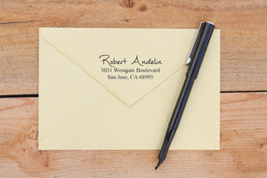 Pen Written Return Address Stamp
