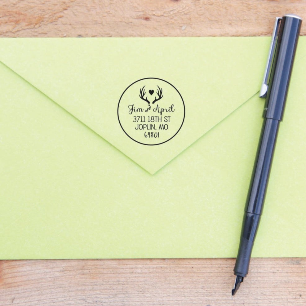Antler Custom Return Address Stamp