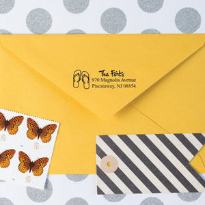 Flip Flops Return Address Stamp