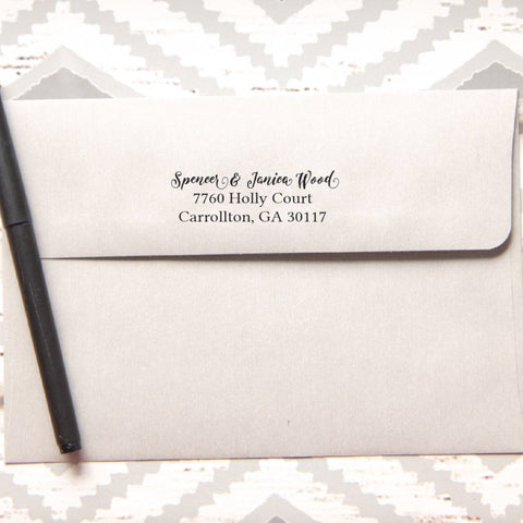 Thin Script Return Address Stamp