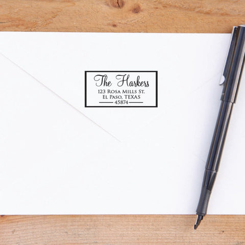 Custom Return Address Stamp with Border