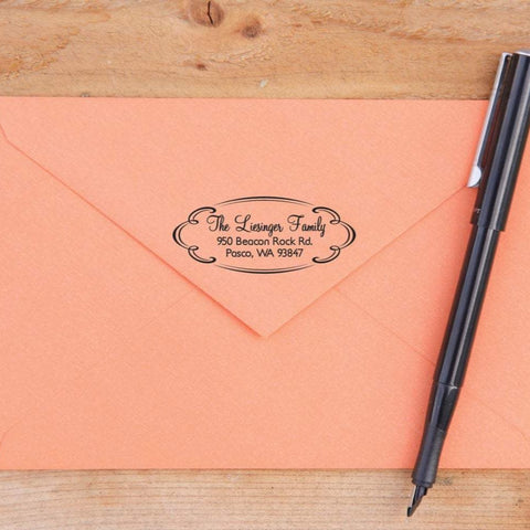 Oval Return Address Stamp