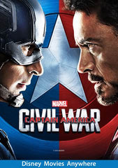 Captain America: Civil War [VUDU, iTunes, or Disney DMA/DMR - HD]
