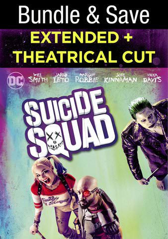 Suicide Squad (Extended edition) [VUDU - HD or iTunes - HD via MA]