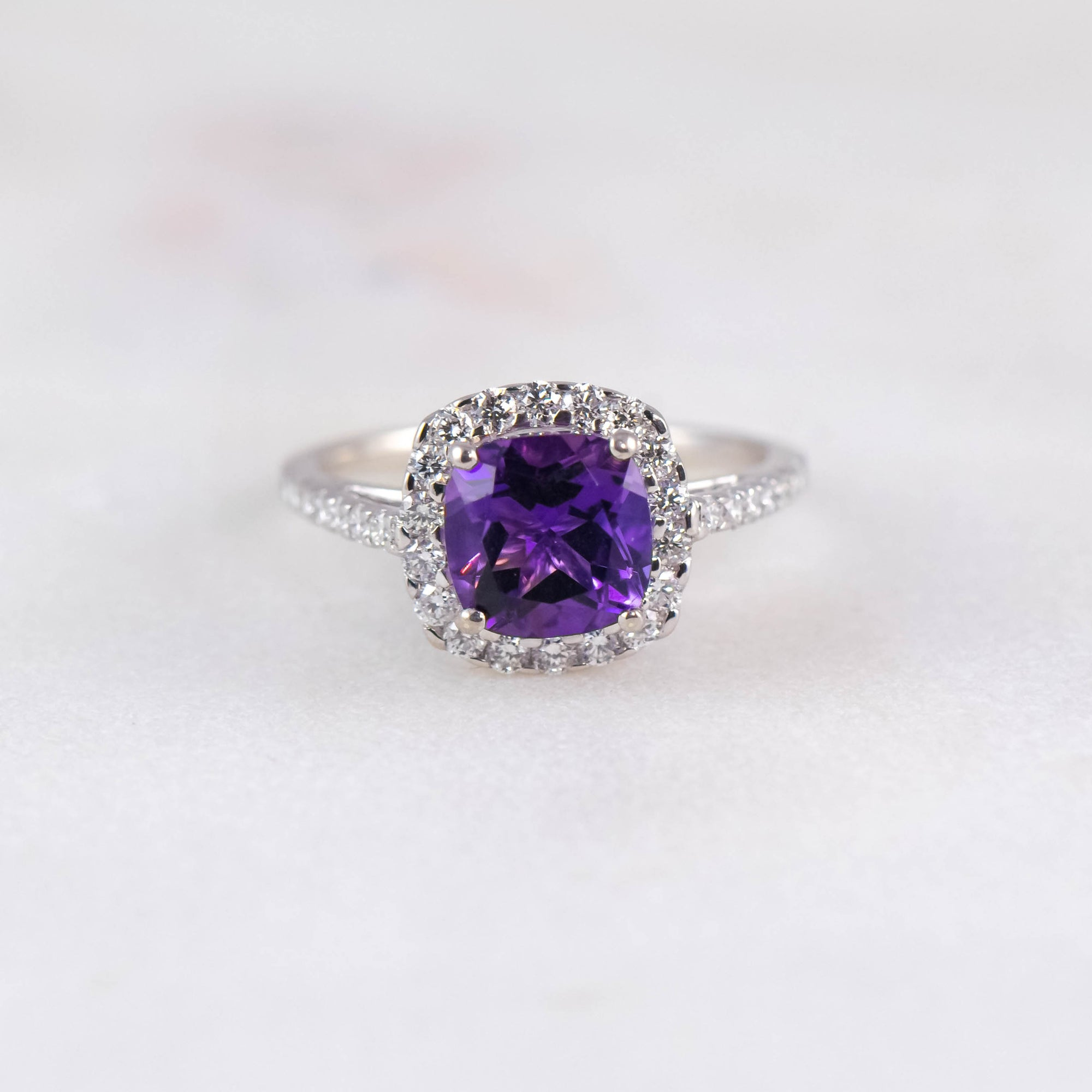 Bespoke Tanzanite & Diamond Ring