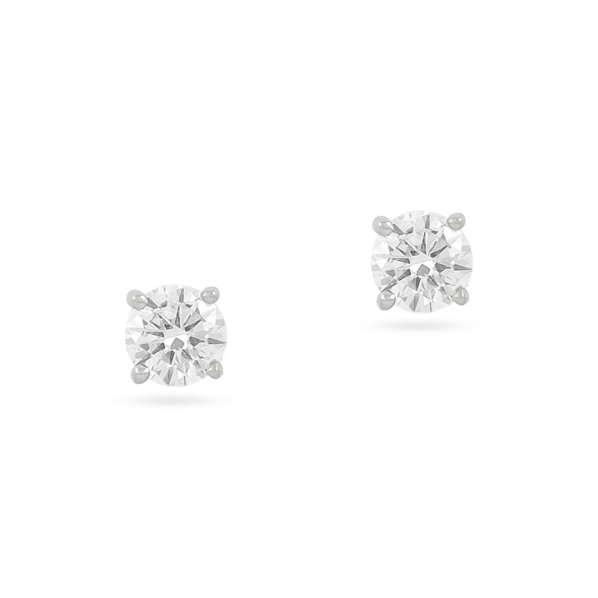 0.20ct 18ct White Gold Diamond Stud Earrings