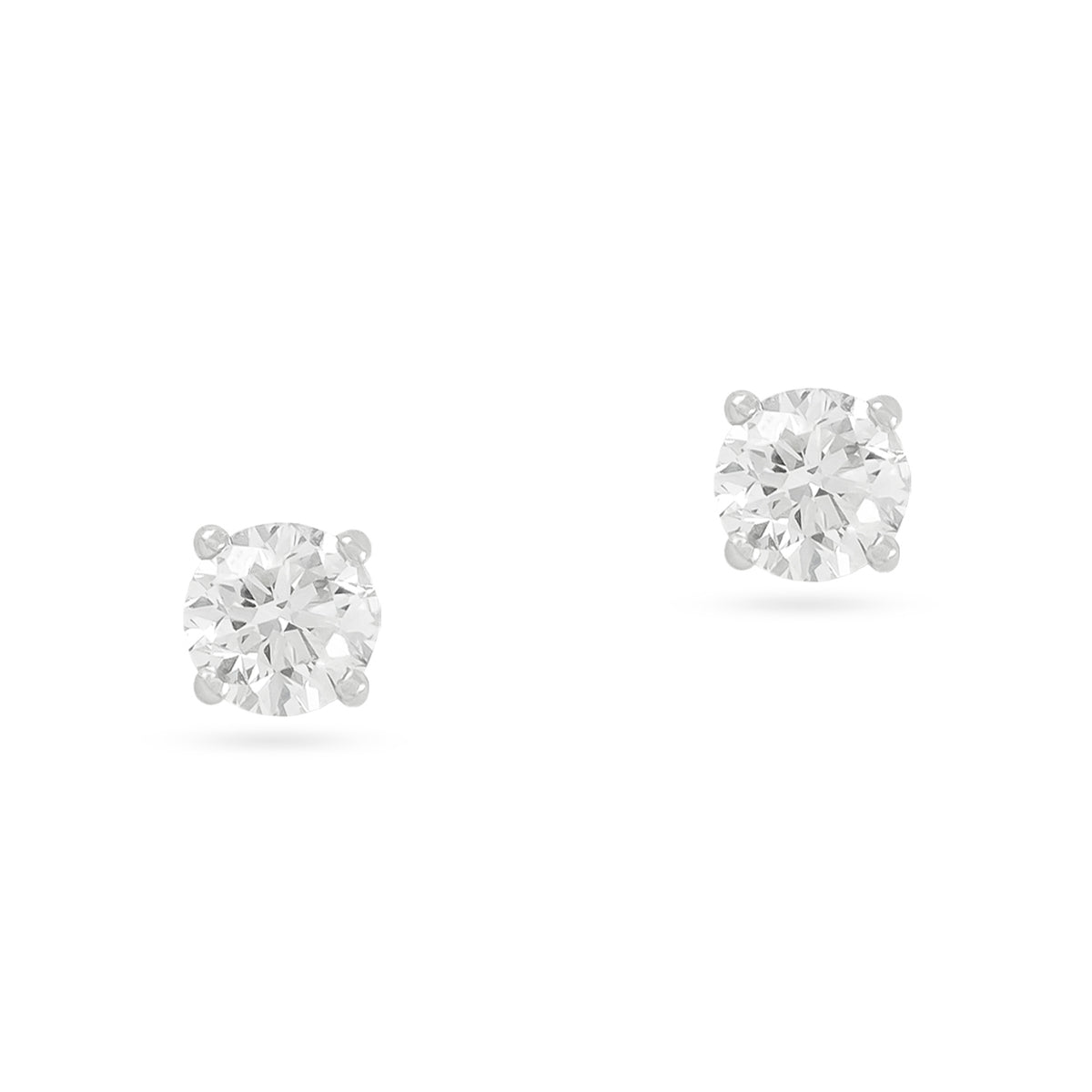 0.50ct 18ct White Gold Diamond Stud Earrings
