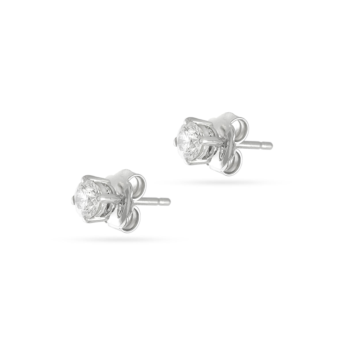 0.25ct 18ct White Gold Diamond Stud Earrings