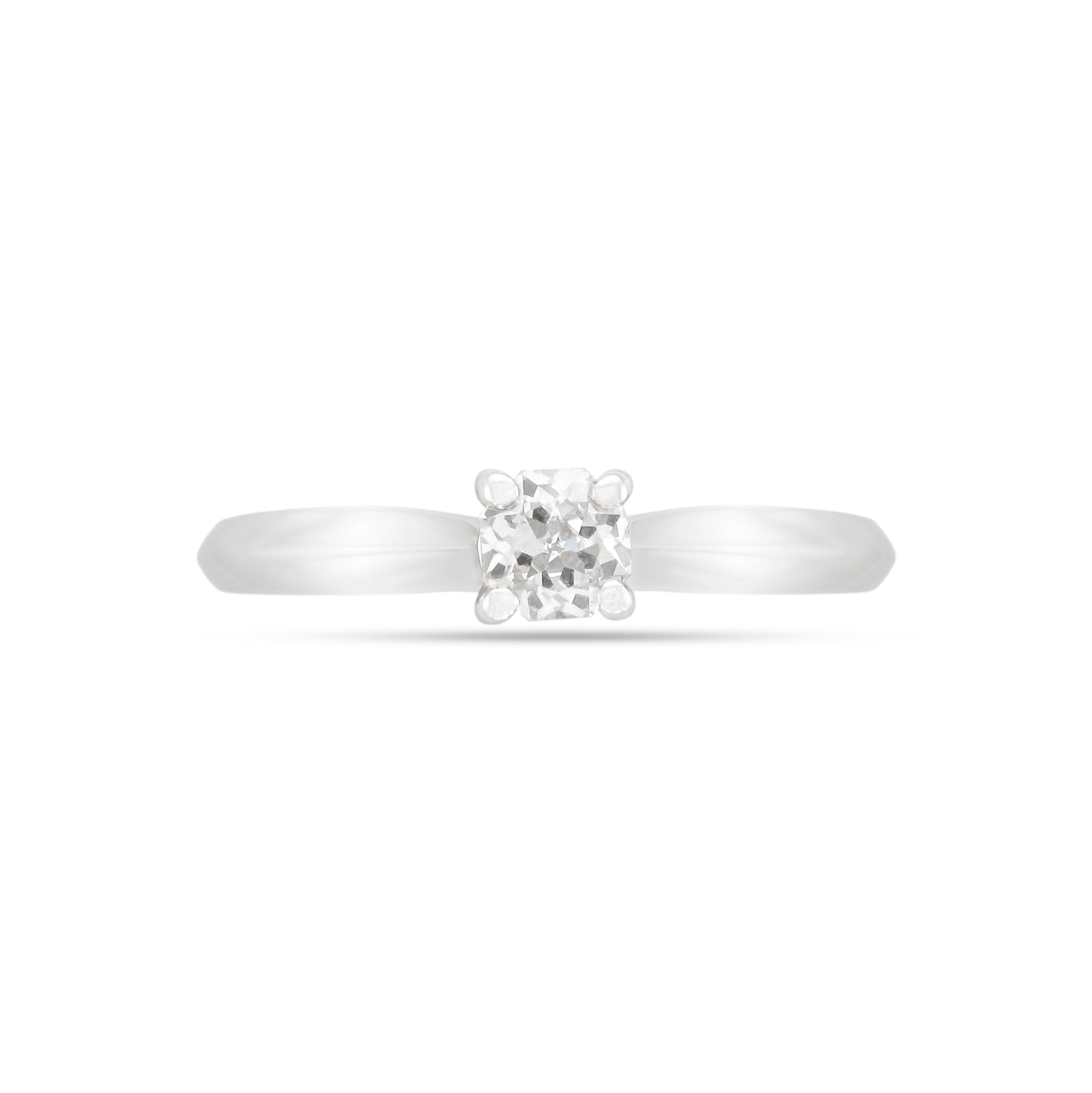 0.33ct Round Brilliant Solitaire Diamond Engagement Ring