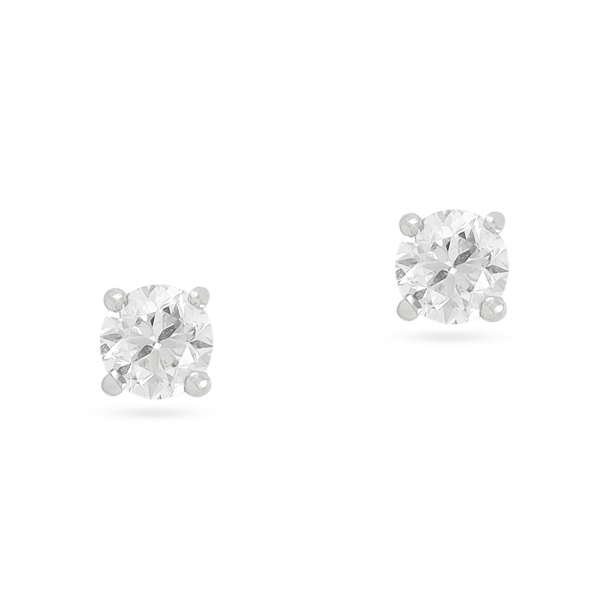 0.34ct 18ct White Gold Diamond Stud Earrings