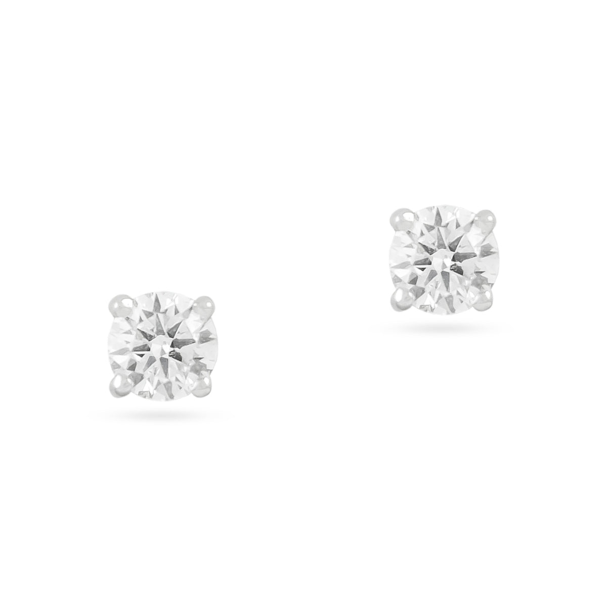 0.72ct 18ct White Gold Diamond Stud Earrings