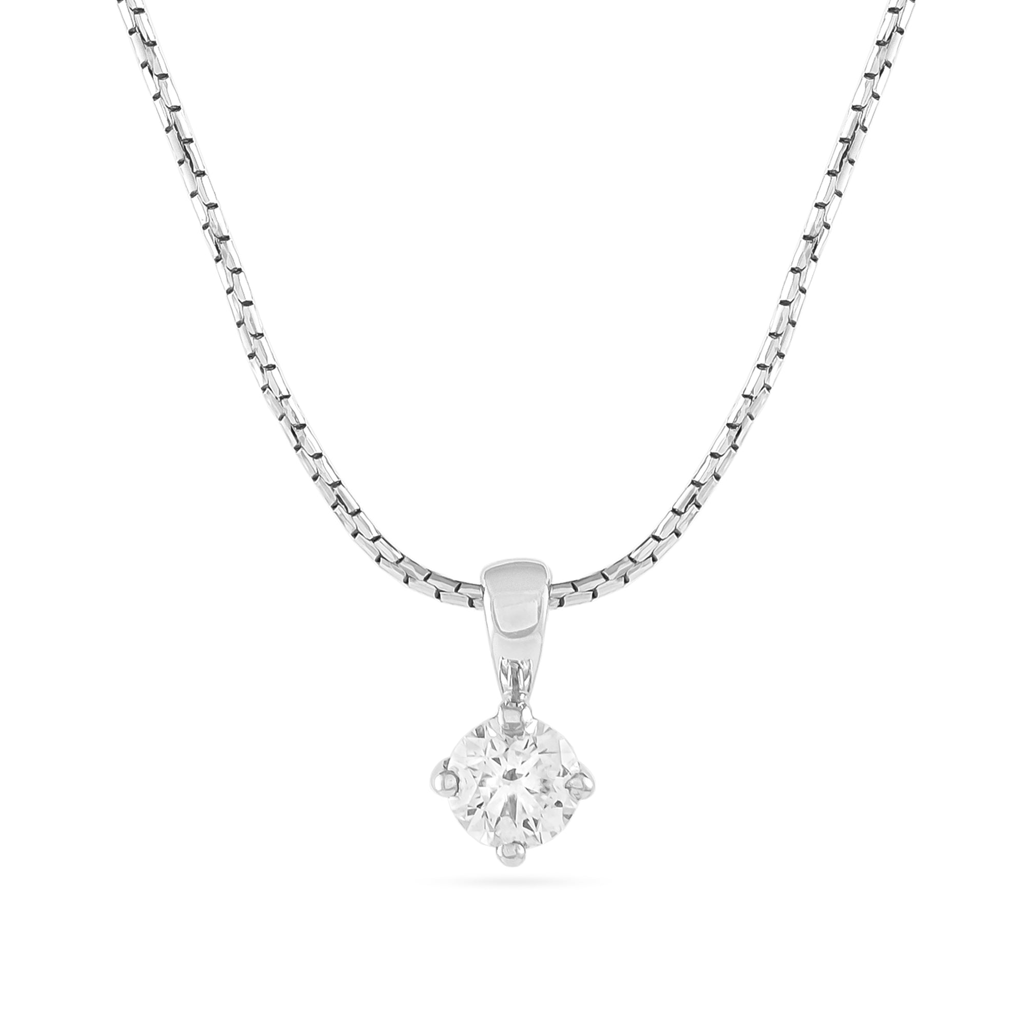0.41ct Brilliant-Cut Diamond Pendant Cert