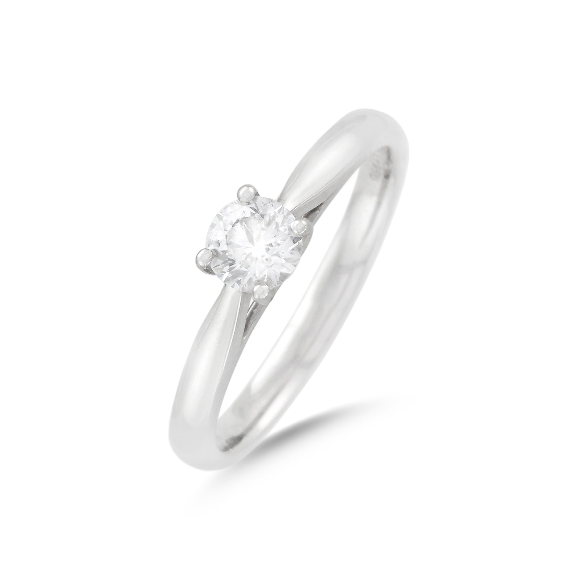0.41ct Round Brilliant Solitaire Diamond Engagement Ring