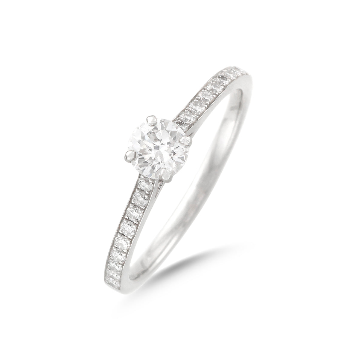0.46ct Round Brilliant Diamond Engagement Ring