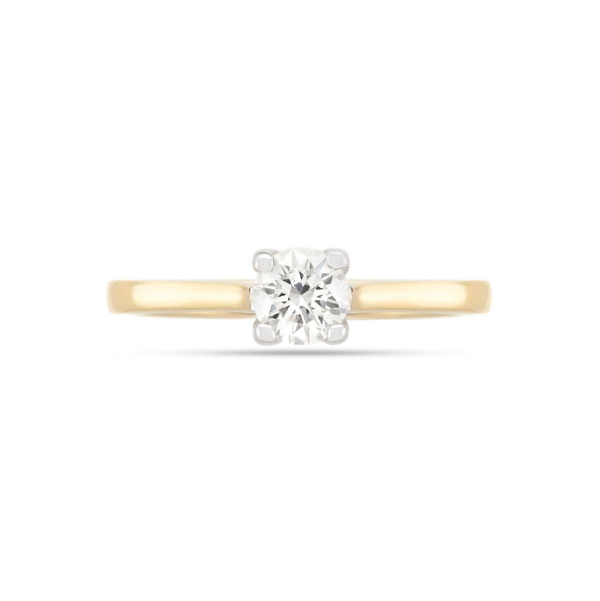 0.50ct Brilliant-Cut Diamond Solitaire Engagement Ring