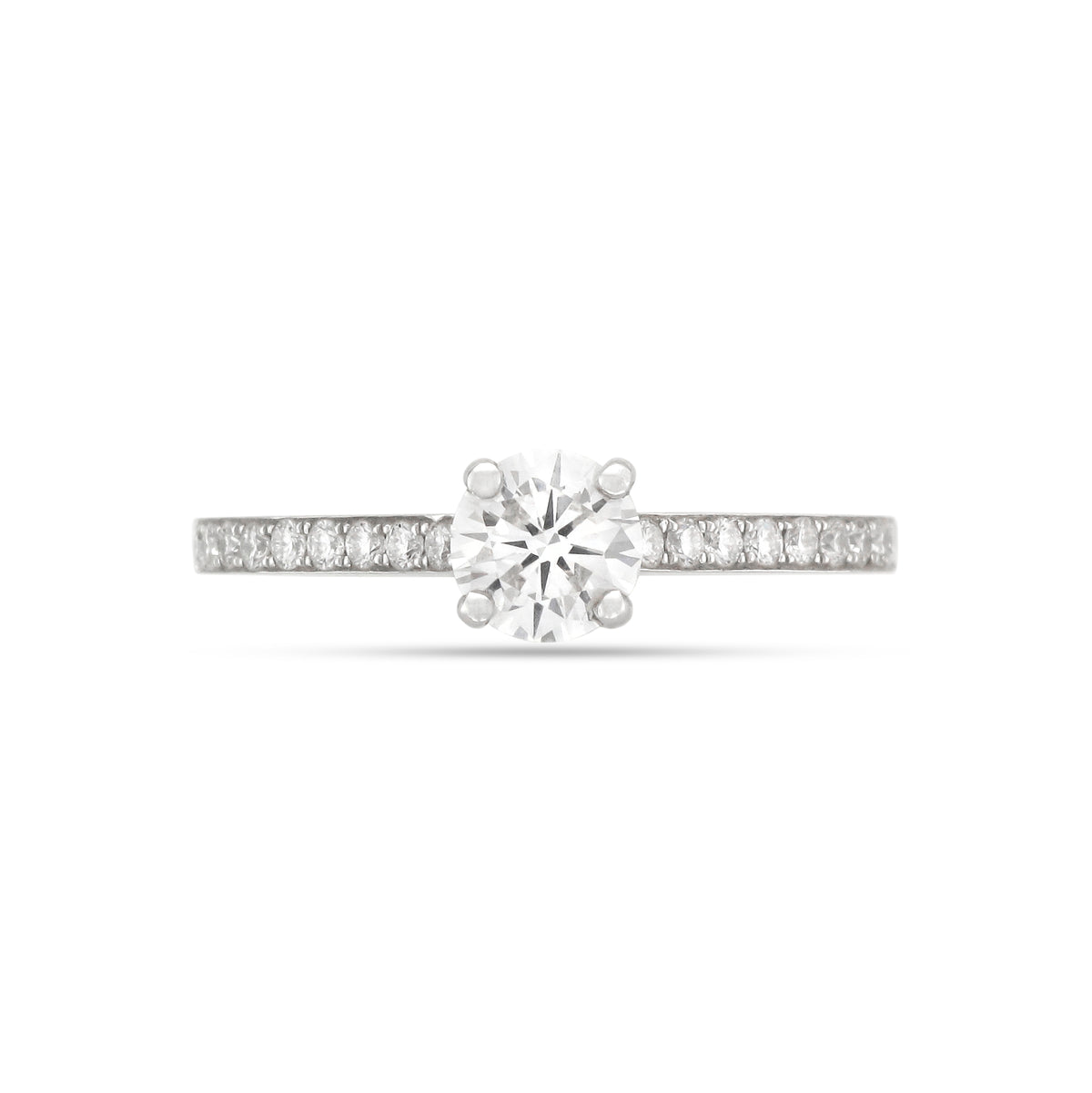 0.51ct Round Brilliant Diamond Engagement Ring