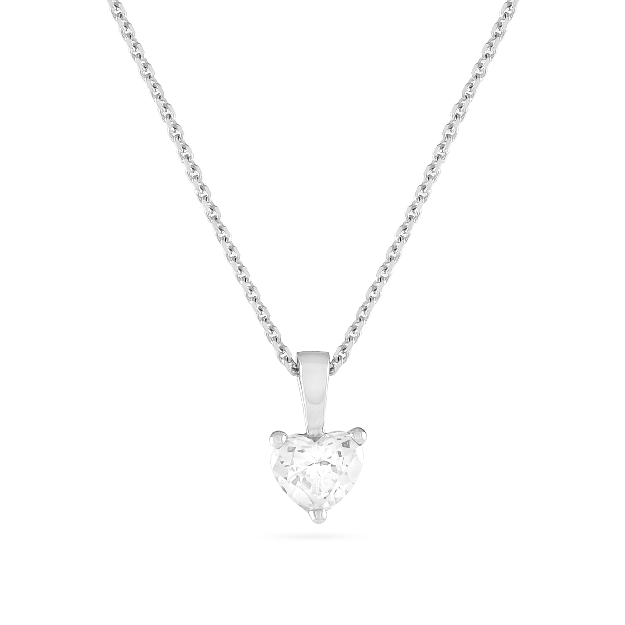 0.54ct Heart-Cut Diamond Pendant