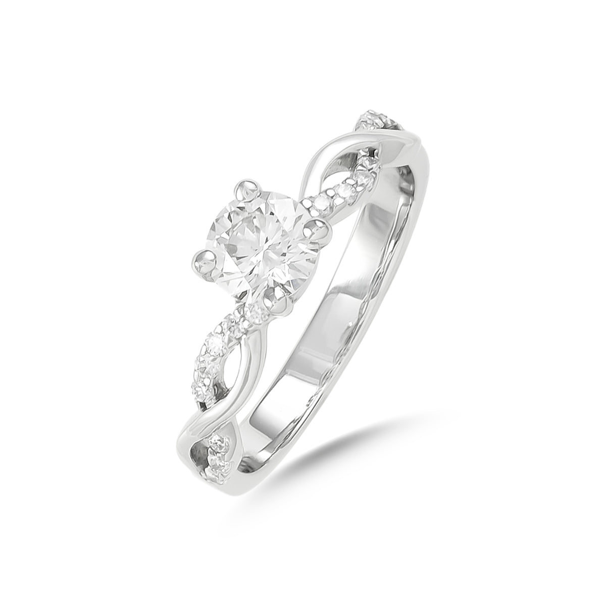 0.55ct Brilliant-Cut Diamond Twist Engagement Ring