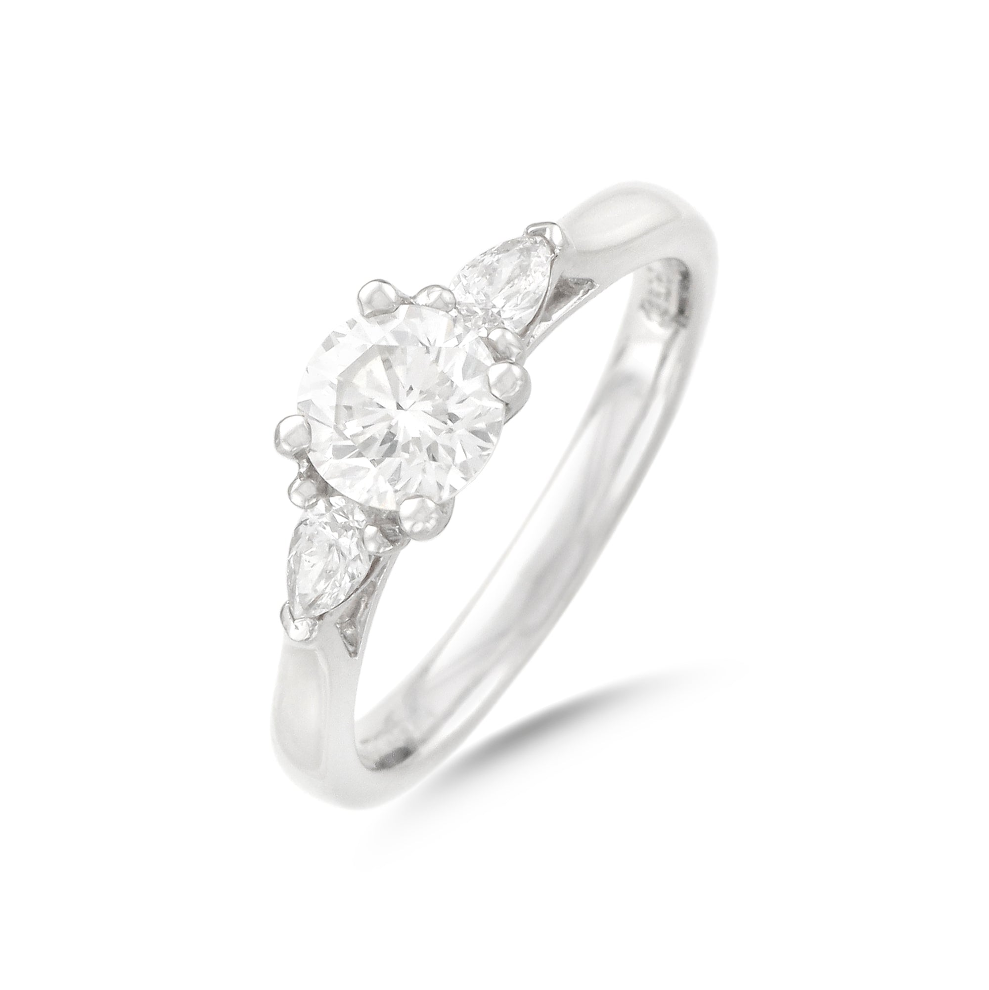 0.65ct Brilliant-Cut Three Stone Diamond Engagement Ring