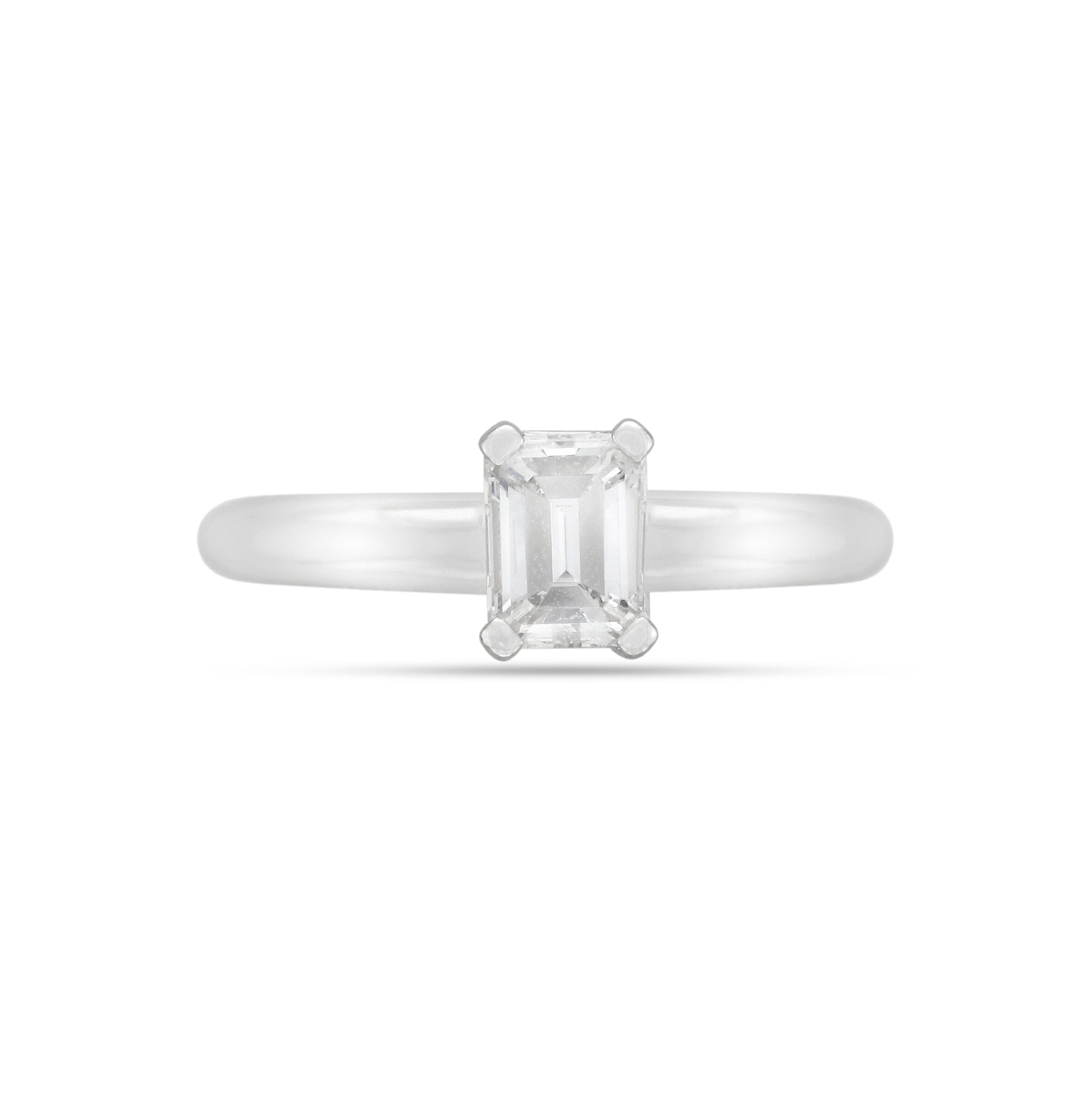 0.73ct Emerald-Cut Solitaire Diamond Engagement Ring
