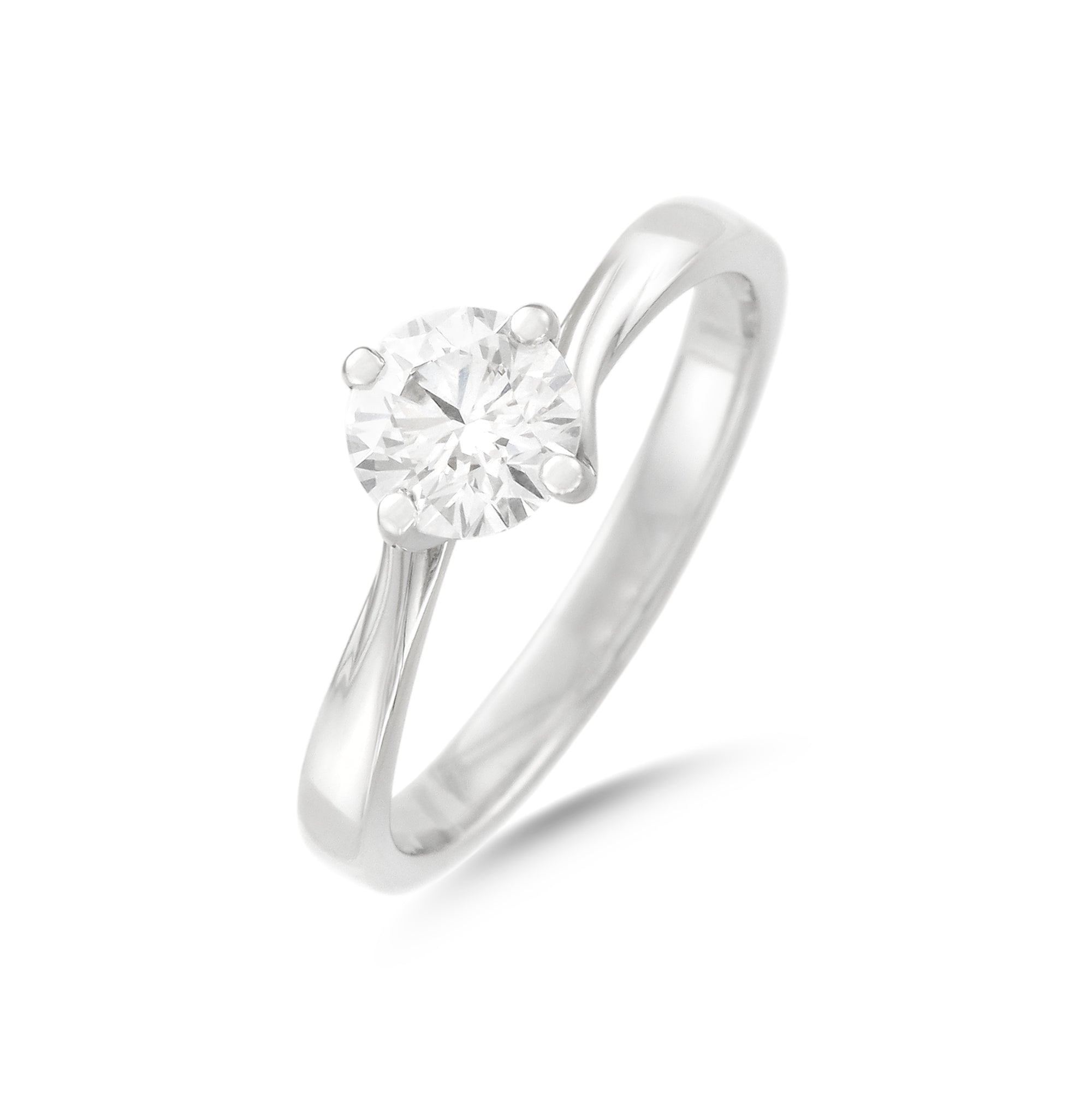 0.77ct Brilliant-Cut Diamond Solitaire Engagement Ring