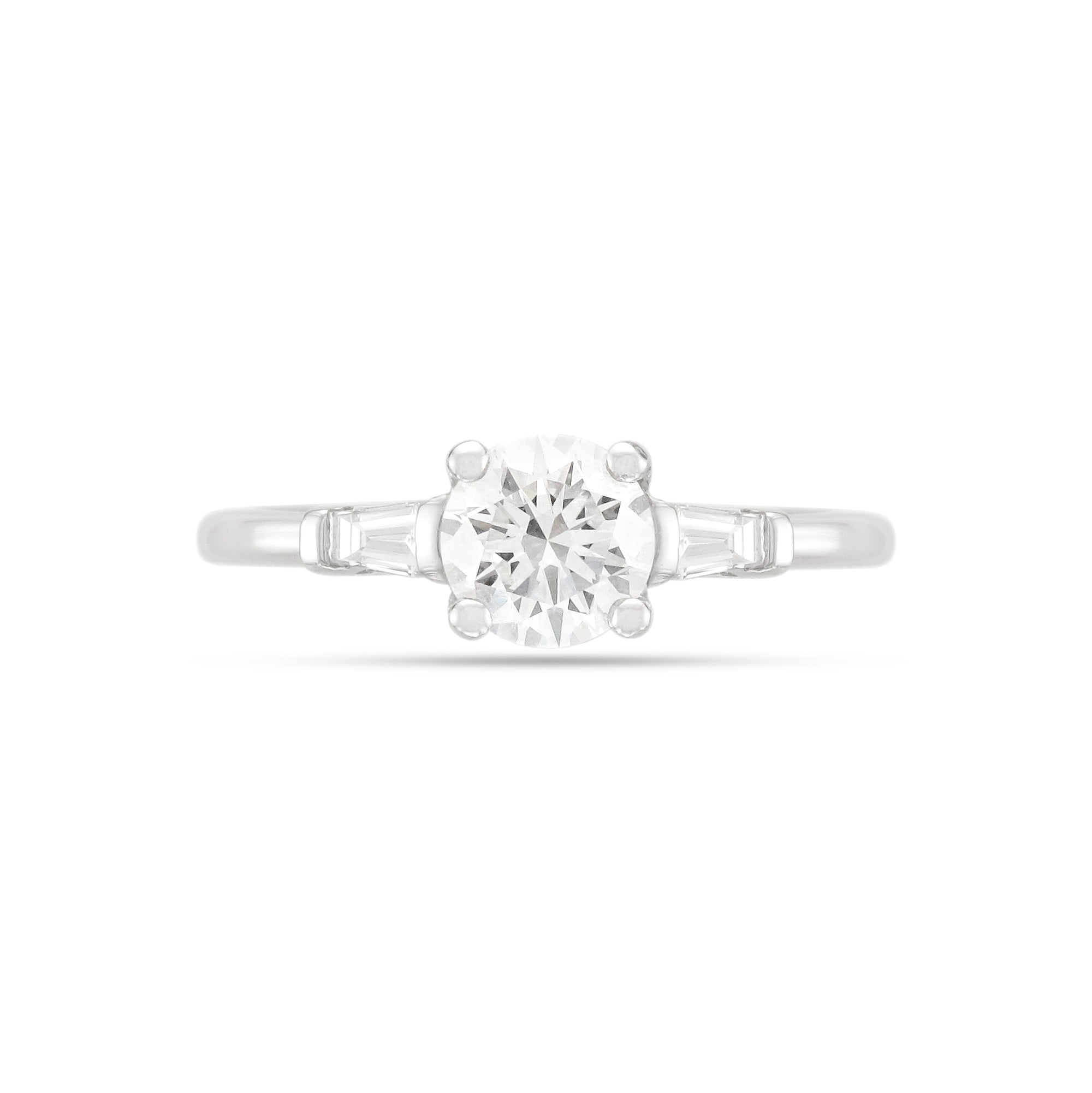 0.80ct Brilliant-Cut Three Stone Diamond Engagement Ring