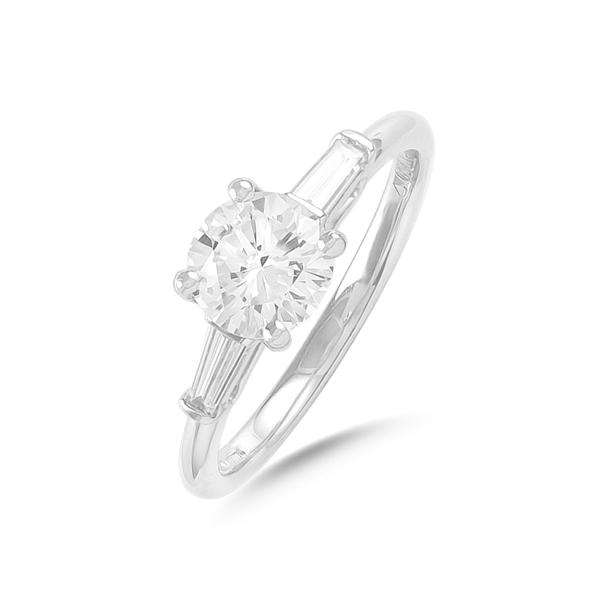 0.95ct Three Stone Diamond Engagement Ring