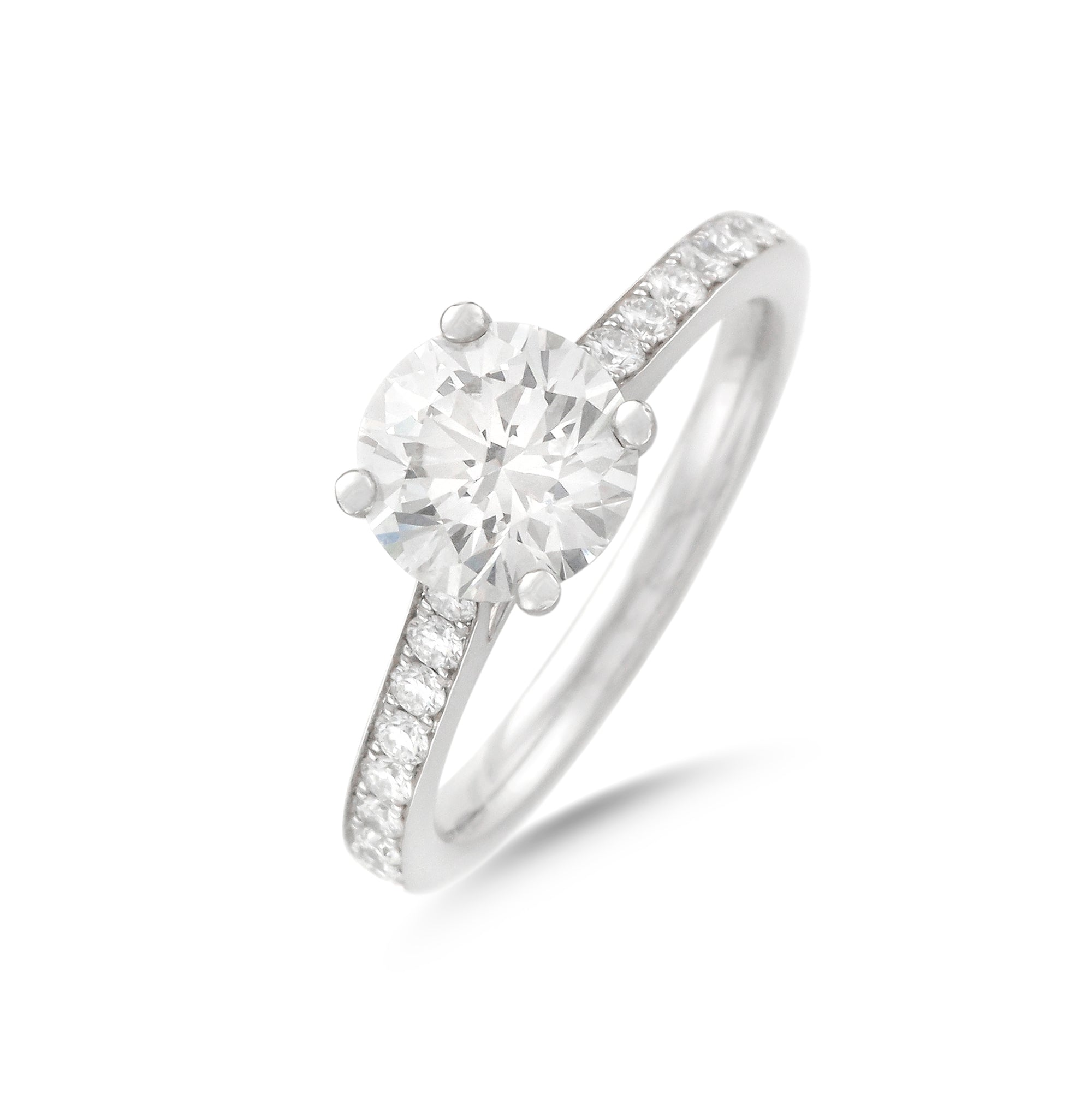 1.52ct Round Brilliant Diamond Engagement Ring