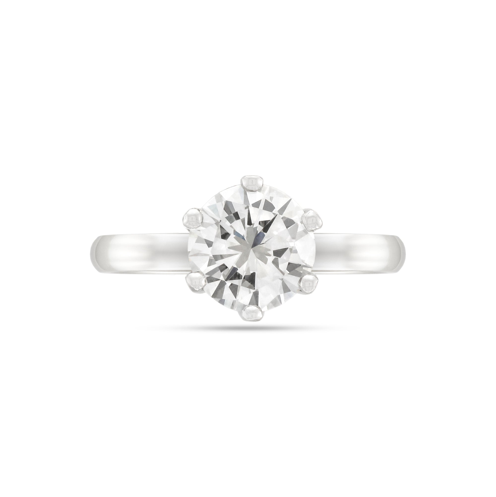 1.68ct Brilliant-Cut Diamond Solitaire Engagement Ring