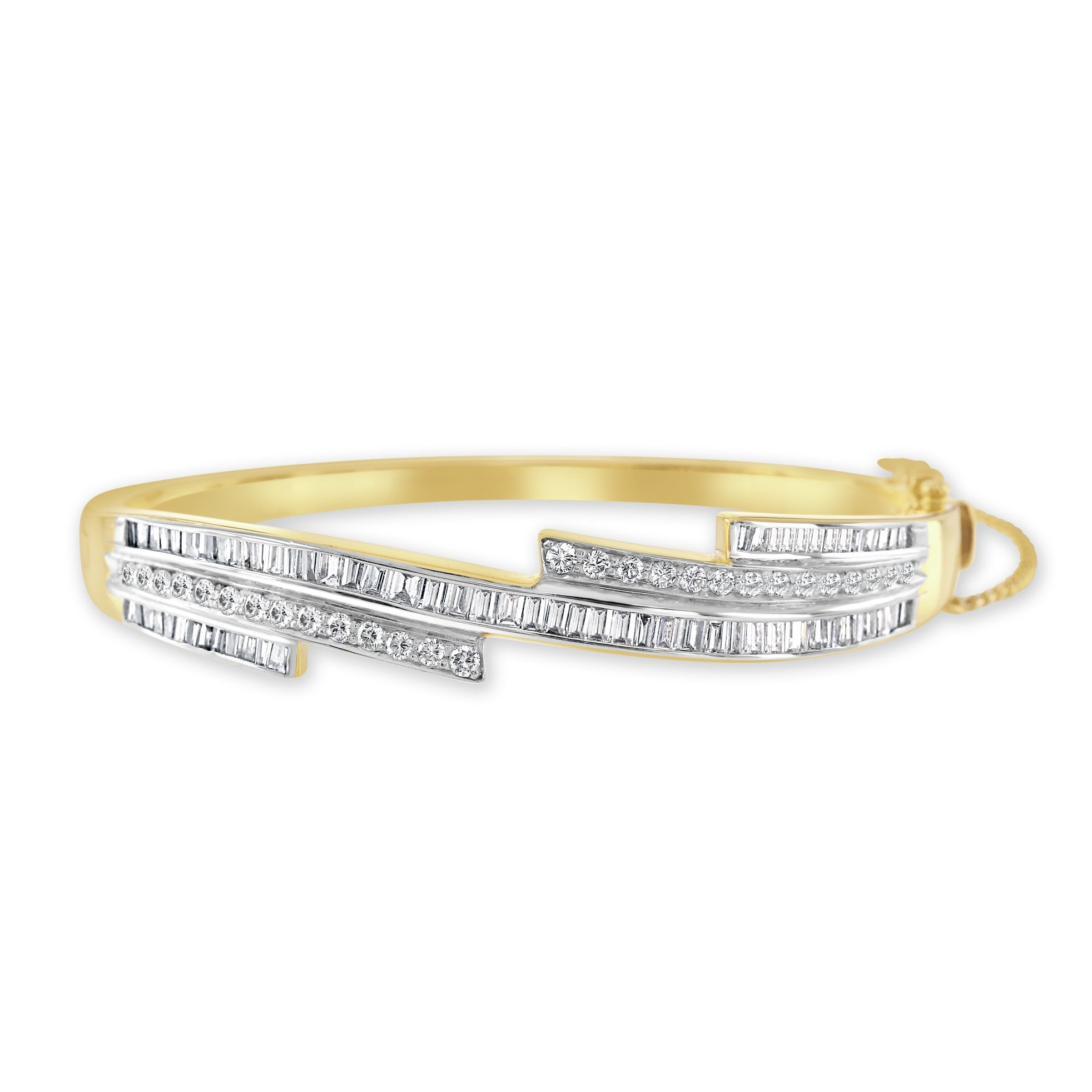14ct Yellow Gold Diamond Bangle