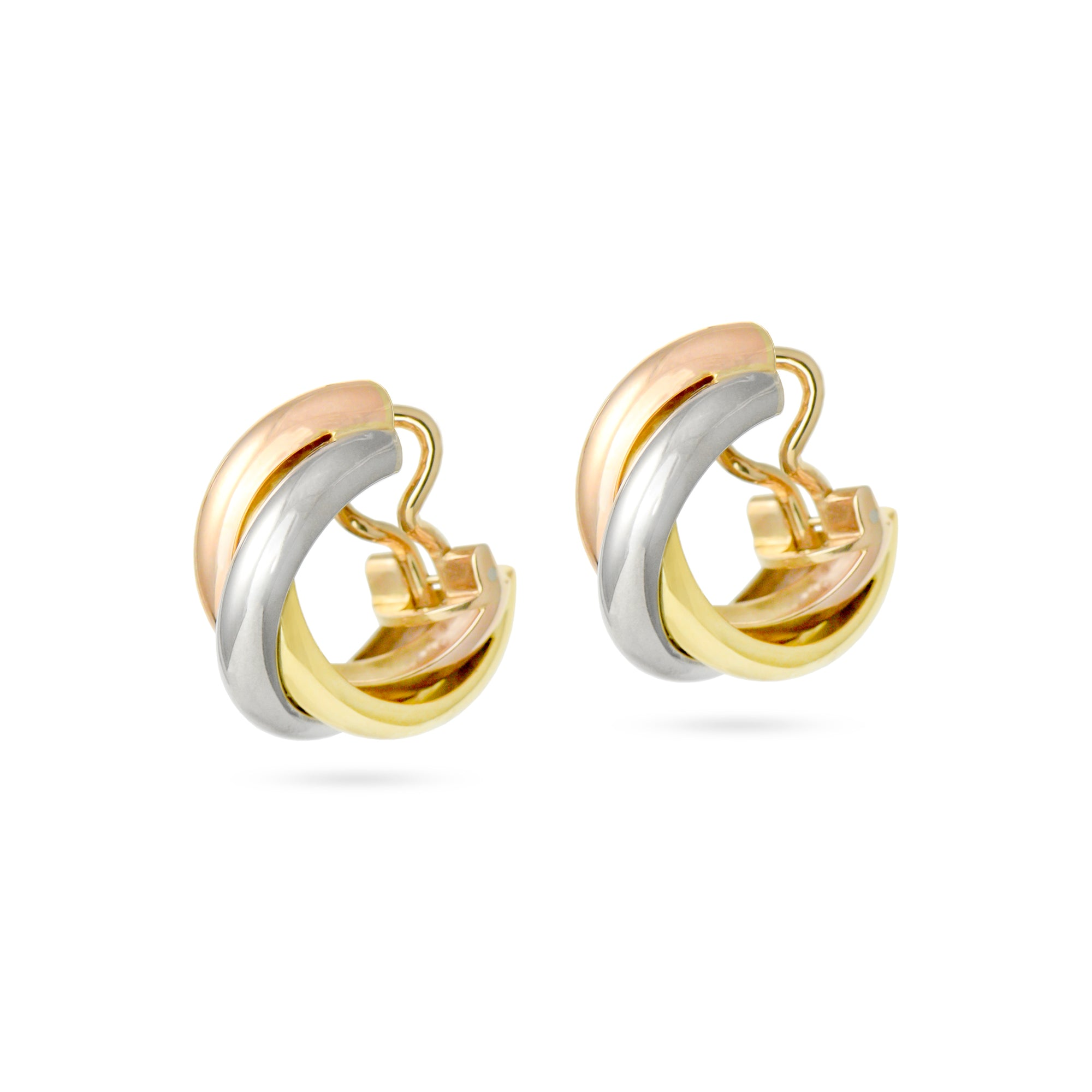 18ct Cartier Trinity Hoop Earrings