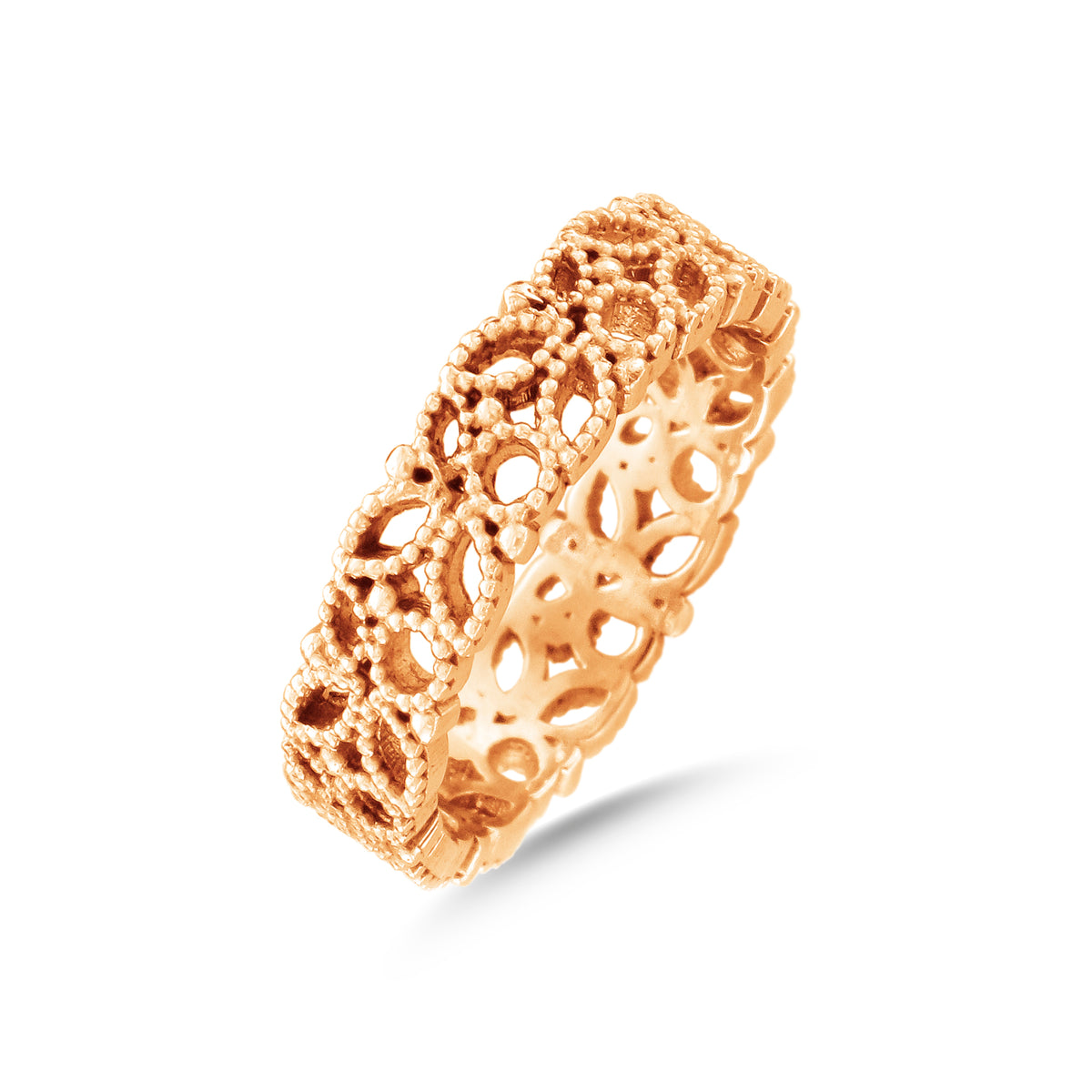 18ct Rose Gold Filigree Lace Ring